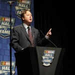 Brian France during the 2013 NASCAR Hall of Fame Induction Ceremony Friday in Charlotte, N.C. (NASCAR Photo)