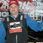 Dennis Erb Jr. in victory lane Wednesday evening at East Bay Raceway Park in Gibsonton, Fla. (Al Steinberg Photo)