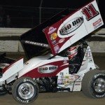 Steve Kinser is one of several Indiana natives on the World of Outlaws STP Sprint Car Series tour. The series races at Kokomo (Ind.) Speedway this Wednesday. (Al Steinberg Photo)