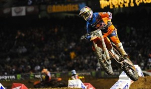 Ryan Dungey returns to ride the KTM 450 SX-F Factory Edition motorcycle in 2014. (Feld Entertainment photo)