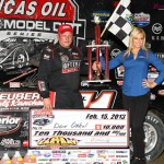 Don O'Neal pocketed $10,000 for winning Friday's Lucas Oil Late Model Dirt Series event at East Bay Raceway Park in Florida. (Mike Ruefer Photo)