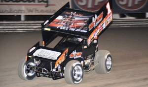 Sammy Swindell, shown at Volusia Speedway Park, won Friday's World of Outlaws STP Sprint Car Series race at Skagit Speedway. (Julia Johnson Photo)