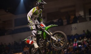 Tyler Bowers claimed the 2013 AMSOIL Arenacross title. He'll return to defend his title with Babbitt's Kawasaki squad in 2014.
