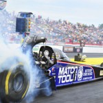 Antron Brown drove to his first NHRA Top Fuel victory of the 2013 season during the Amalie Oil NHRA Gatornationals Sunday in Florida. (NHRA Photo)