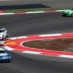 Drivers in both the Grand Sport and Street Tuner classes battle for position during the Continental Tire Sports Car Challenge Series race at Circuit of the Americas in Austin, Texas, Saturday. (Grand-Am Photo)