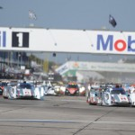 The American Le Mans Series field takes the green flag to start the Mobil 1 12 Hours of Sebring Saturday morning at Sebring (Fla.) Int'l Raceway. (Al Steinberg Photo)