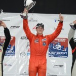 Scott Hargrove (center) swept the Cooper Tires USF2000 Championship Powered by Mazda weekend in St. Petersburg, Fla. (Al Steinberg Photo)