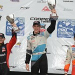 Matthew Brabham (center) completed a weekend sweep of the Pro Mazda Championship events in St. Petersburg, Fla. (Al Steinberg Photo)