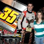 Sean Becker, shown last year, won Friday's Silver Cup opener at Silver Dollar Speedway. (Tom Parker Photo)