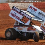 Greg Hodnett, shown during hot laps Saturday at Lincoln Speedway in Abbottstown, Pa., won the Selinsgrove Speedway opener Sunday. (Julia Johnson Photo)