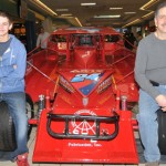 A third generation Strupp will be racing at Orange County Speedway in Middletown, N.Y., this year, Grandfather veteran Sonny Strupp raced there years ago. Johnny Strupp (right) was the second generation and now third generation Tommy Strupp (left) will be driving the family No. 24. (Harry Cella Photo)