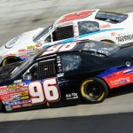 Ben Kennedy (96) and Ryan Gifford battle for position during Saturday's NASCAR K&N Pro Series East race at Bristol (Tenn.) Motor Speedway. (NASCAR Photo)