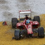 Fernando Alonso's race ended early after a crash on the second lap of the Malaysian Grand Prix. (Steve Etherington Photo)