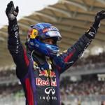 Sebastian Vettel, shown here celebrating after winning the Formula One Malaysian Grand Prix, will start from the pole for Sunday's Canadian Grand Prix. (Steve Etherington Photo)