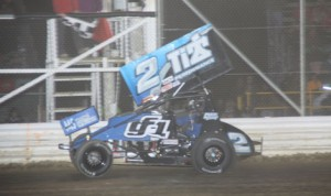 Dale Blaney drove to victory in the UNOH All Star Circuit of Champions sprint-car feature earlier this season at Attica (Ohio) Raceway Park. (Action Photo)