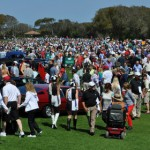 A big crowd checks out all the classic cars during the 18th annual Amelia Island Concours d'Elegance. (Ralph Sheheen Photo)