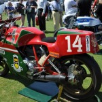 A Mike Hailwood Ducati was one of several classic bikes on display during the Amelia Island Concours d'Elegance. (Ralph Sheheen Photo)