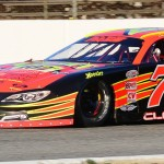 Cassius Clark drove to victory during Sunday's PASS North opener at Oxford Plains Speedway in Maine. (Norm Marx Photo)