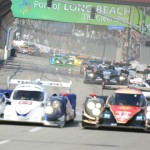 The American Le Mans Series field takes the green flag to start Saturday's running of the Grand Prix of Long Beach in California. (Al Steinberg Photo)