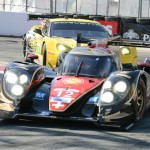 The Rebellion Racing Lola B12/60 Toyota driven by Neel Jani and Nick Heidfeld started from the pole and finished second overall in Saturday's Grand Prix of Long Beach for the American Le Mans Series. (Al Steinberg Photo)