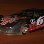 Steve Shaver led early but finished second in the Carolina Crown Saturday at Lancaster (S.C.) Speedway. (Larrie Ervin Photo)