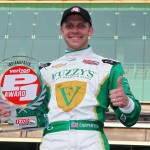 Ed Carpenter put his No. 20 Dallara/Chevrolet on the pole for the 97th running of the Indianapolis 500. (IndyCar Photo)