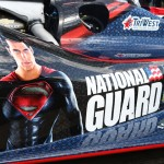 J.R. Hildebrand debuted a new paint scheme promoting the new Superman film during practice Sunday at Indianapolis Motor Speedway. (IndyCar Photo)