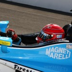 Simon Pagenaud during Monday's Indianapolis 500 practice session at Indianapolis Motor Speedway. (IndyCar Photo)