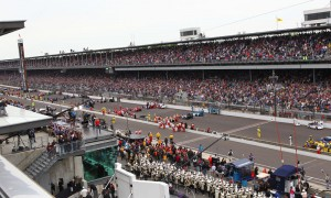 The Indianapolis 500 starting grid prior to the start of the 97th running of the historic event at Indianapolis Motor Speedway. (IndyCar Photo)