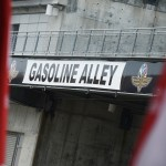 Gasoline Alley will serve as the home for the IZOD IndyCar Series for the rest of the month at Indianapolis Motor Speedway. (IndyCar Photo)