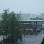 Rain storms moved through Indianapolis on Friday, bringing an early end to Indianapolis 500 practice. (IndyCar Photo)