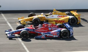 Andretti Autosport teammates Marco Andretti (26) and Ryan Hunter-Reay will be changing from Chevrolet to Honda engines next season. (IndyCar Photo)