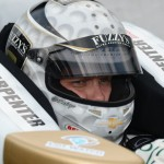 Ed Carpenter sits in his car prior to making his final qualifying attempt at Indianapolis Motor Speedway. (Al Steinberg Photo)