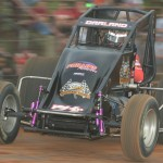 Dave Darland during Friday's AMSOIL USAC National Sprint Car Series event at Bloomington (Ind.) Speedway. (Dave Heithaus Photo)
