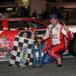 Ross Kenseth in victory lane after winning Saturday's PASS South event at South Boston (Va.) Speedway. (LWpictures.com Photo)