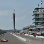 Indianapolis Motor Speedway came alive with the sounds of Indy cars during the opening day of practice Saturday for the 97th Indianapolis 500. (IndyCar Photo)