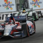 Marco Andretti (25) during Sunday's IZOD IndyCar Series race in Sao Paulo, Brazil. (IndyCar Photo)