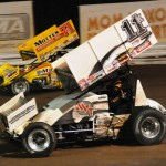 Kraig Kinser (11k) heads to Kokomo (Ind.) Speedway this Wednesday as the defending champion of that event on the World of Outlaws STP Sprint Car Series tour. (Julia Johnson Photo)