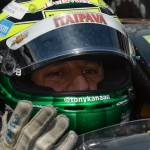 Tony Kanaan during practice Wednesday at Indianapolis Motor Speedway. (David E. Heithaus photo)