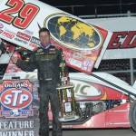 Kerry Madsen scored his first World of Outlaws STP Sprint Car Series triumph of 2013 on Friday at Eldora Speedway in Rossburg, Ohio. (Julia Johnson Photo)
