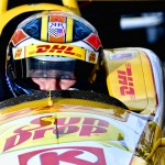 Ryan Hunter-Reay sits in his car during Indianapolis 500 qualifying Saturday at Indianapolis Motor Speedway. (IndyCar Photo)