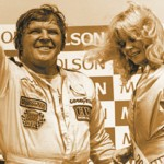 Dick Trickle after win-ning the Molson 200 in Ontario during the 1983 season. (NSSN Archives photo)
