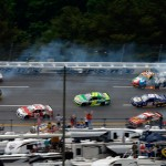 Several cars become involved in a crash during Sunday's NASCAR Sprint Cup Series Aaron's 499 at Talladega (Ala.) Superspeedway. (NASCAR Photo)