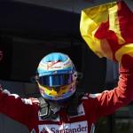 Fernando Alonso celebrates his second Formula One victory of 2013. (Steve Etherington Photo)
