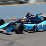 Alex Tagliani during Tuesday's Indianapolis 500 practice session at Indianapolis Motor Speedway. (Dave Heithaus Photo)