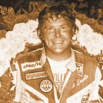 Dick Trickle after winning a 1983 All Pro late-model race. The 34th running of the Slinger Nationals will pay $9,999 to win in honor of the late racer. (NSSN Archives)