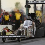 Shawn Langdon topped NHRA Top Fuel qualifying Saturday at Pacific Raceways in Kent, Wash. (Ivan Veldhuizen Photo)
