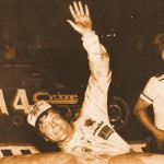 Following one of many late model victories, Dick Trickle waves to the crowd. (NSSN Archives photo)