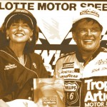 Dick Trickle after winning the 1990 Winston Open at Charlotte Motor Speedway. (NSSN Archives photo)