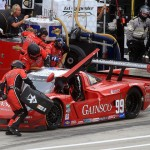 The GAINSCO/Bob Stallings Racing crew services the No. 99 Daytona Prototype during Saturday's Grand-Am Rolex Sports Car Series event at Belle Isle Park in Detroit, Mich. (Grand-Am Photo)